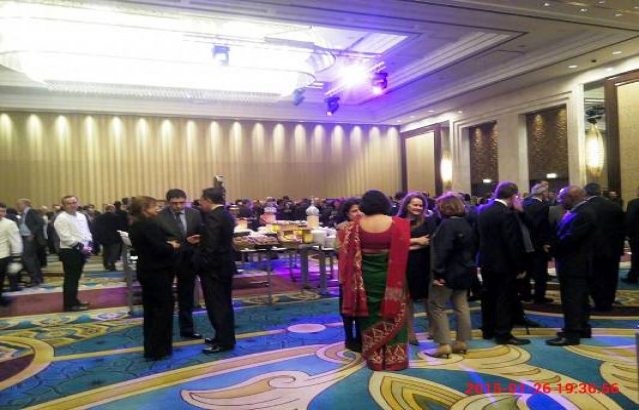 Reception hosted on 26th January, 2015, by HE Ambassador of India on the occasion of the 66th Republic Day of India