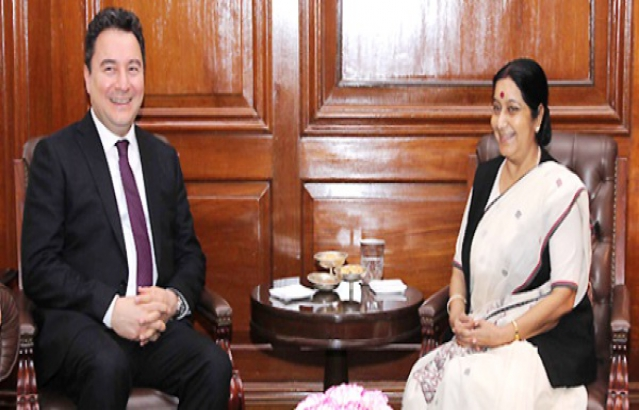 External Affairs Minister meeting with Deputy Prime Minister Ali Babacan of Turkey in New Delhi, 6th April, 2015