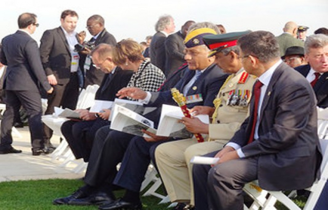Minister of State for External Affairs attends 100th anniversary ceremonies of Canakkale battles (24-26 April, 2015)