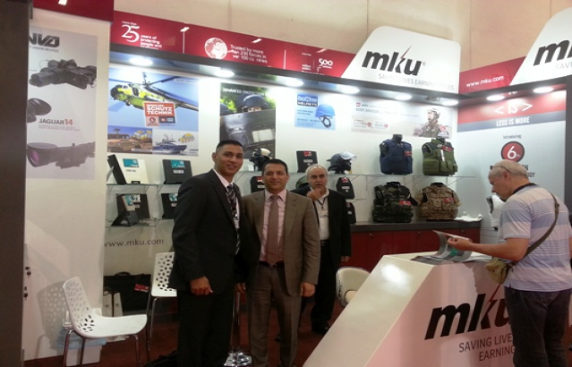 Defence Attache Col Pundir visiting Indian stands at IDEF (International Defence Industry Fair) at Istanbul, 6-7 May, 2015