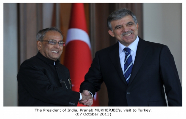 Visit of Hon'ble President of India to Turkey (7 Oct 2013)