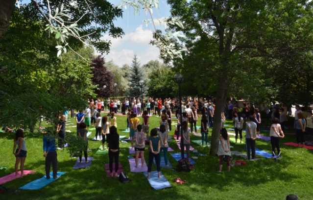 International Day of Yoga, METU, Ankara (21st June, 2015)