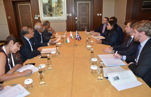 Minister of Labour & Employment in bilateral meeting with British delegation (Ankara, September 3, 2015)
