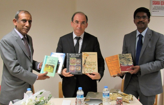 Presentation of Books to Indology Department in Ankara University on