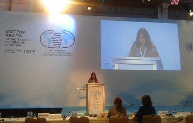 Statement of India delivered by Ms. Madhumita Hazarika Bhagat, Charge d'Affaires a.i. on 28.05.2016 in the Comprehensive High-Level Midterm Review Conference on Implementation of Istanbul Programme of Action for LDCs in Antalya, Turkey
