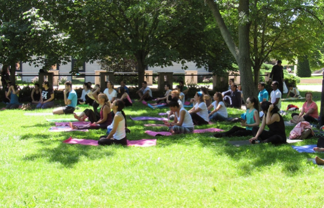 Participants enthusiastically atteneded Yoga Master Class