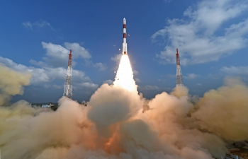 ISRO launched a world record 104 satellites on PSLV C37 rocket from the Sriharikota spaceport in Andhra Pradesh on February 15, 2017.
