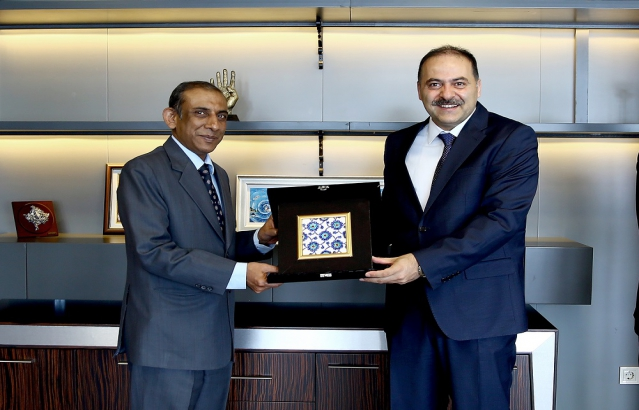 Ambassador calls on Dr. Omer Fatih Sayan, President of Information Technologies and Communication Authority of Turkey (20.4.17)