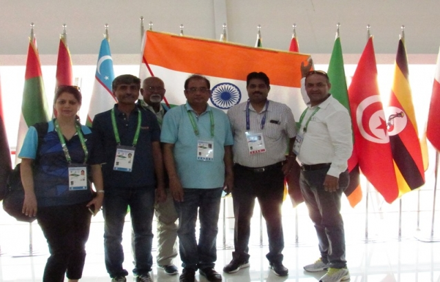 Indian Contingent at 2017 Samsun DEAFLYMPICS.