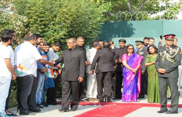 CELEBRATION OF 71ST INDEPENDENCE DAY OF INDIA IN EMBASSY OF INDIA, ANKARA