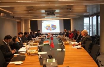 Briefing at Turkish Contractors Association on road and highway sector in India, Ankara, 24