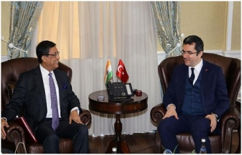 Ambassador Bhattacharyya met Erzurum Governor
