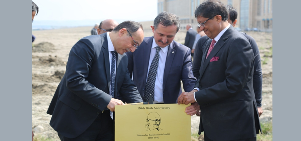 A Gandhi Park opened in Yilderim Beyazit University with plantatio0n of 150 trees