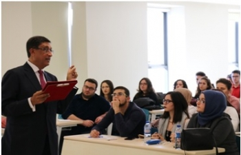 Ambassador of India Shri Sanjay Bhattacharyya paid a visit to YildirimBeyazit University