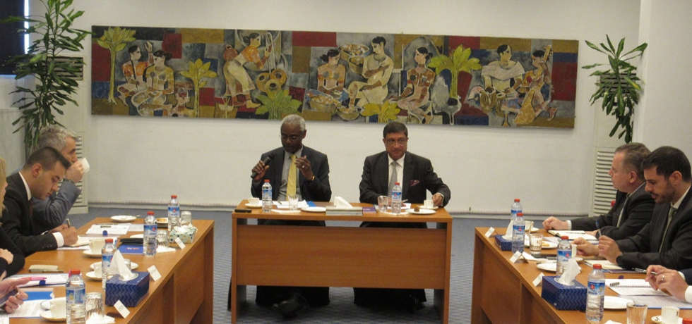 Pre Briefing Of COP 14 of the Ambassadors by HE. Mr Ibrahim Thiaw, Executive Secretary, UNCCD at Indian Embassy on June 18, 2019