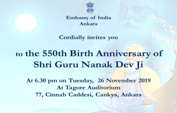 550 Birth Anniversary of Guru Nanak Dev ji
