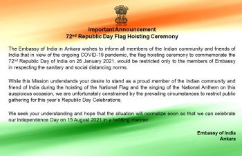 72nd Republic Day Flag Hoisting Ceremony