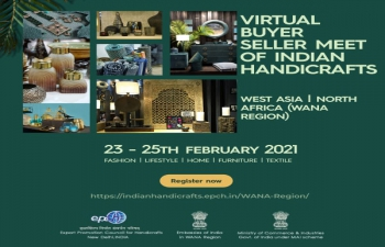 Virtual Buyer Seller Meet of Indian Handicrafts- Feb 23-25, 2021