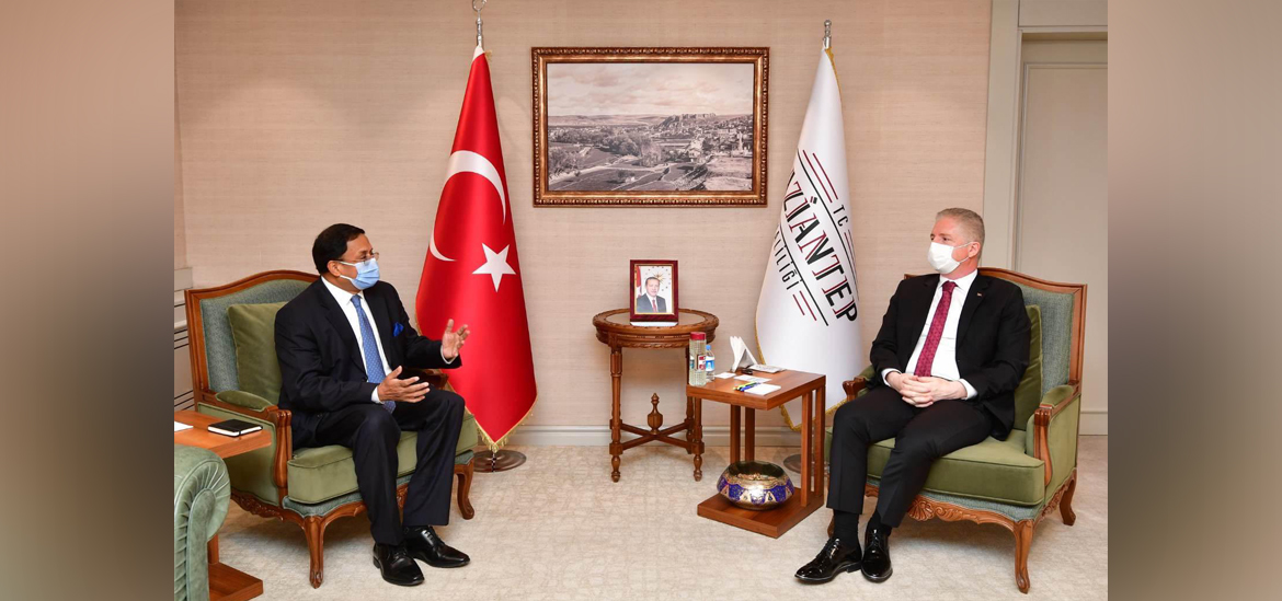 Ambassador Sanjay Panda met Gaziantep Governor Gul Davuloglu on March 10, 2021